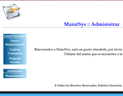 MaintSys - Web Site