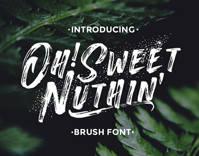 Oh! Sweet Nuthin' Font