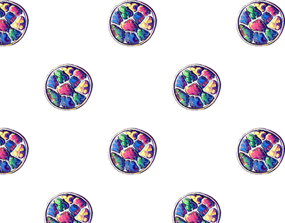 Fabric pattern 'Precious stones in the circle'
