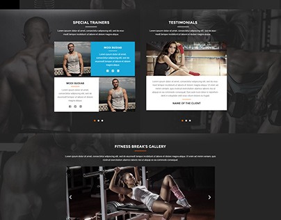 Fitness Break - Website UI