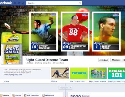 Right Guard - Facebook App Pitch