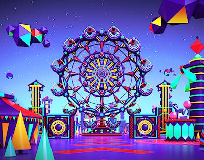 Amusement Park TV channel rebrand concept