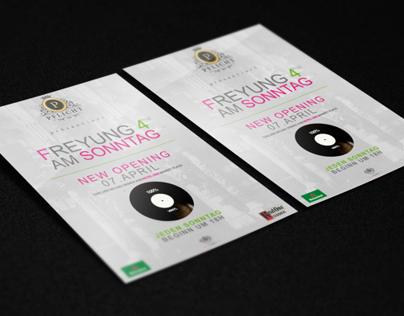 """""""Freyung 4 Am Sonntag"""" Flyer presented by Pflicht"""