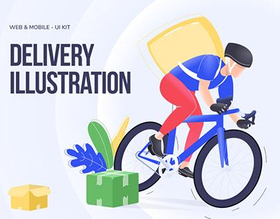 Delivery Illustration Pack / Web & Mobile - UI Kit