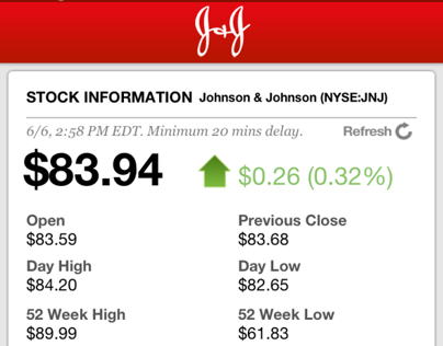 J&J Investor Relations iPhone / iPad App