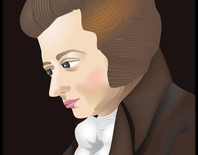 Portrait of Mozart by Lange