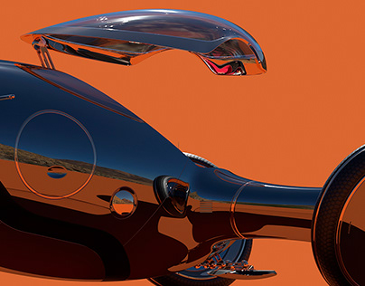 Retro Futurism Concept Car