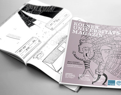 Illustrations for the the University of Cologne magazin