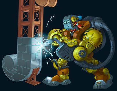 Robot Welder Book Cover Illustration