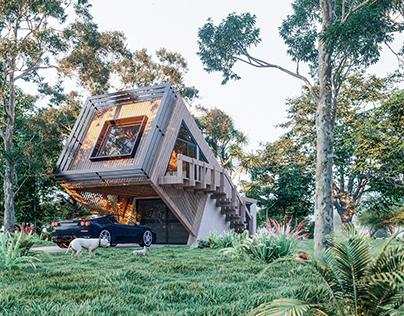 Rainforest hut
