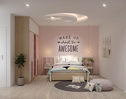 Pink kid room