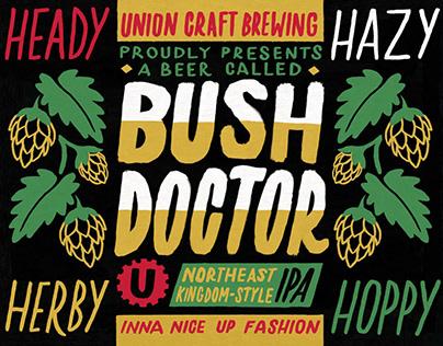 Bush Doctor label design