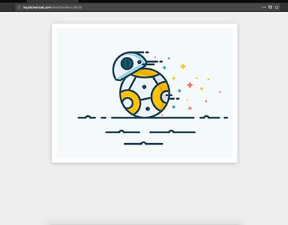 Starwars BB-8 illustration to code