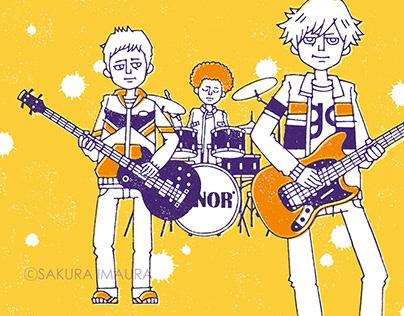 Rock music illustration