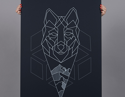 "Poster 60x90 cm Theme: Graphic Winter ""Wermland"""