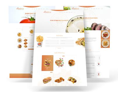 Lantern Restaurant Web Template Design.