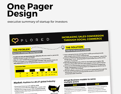One Pager Design