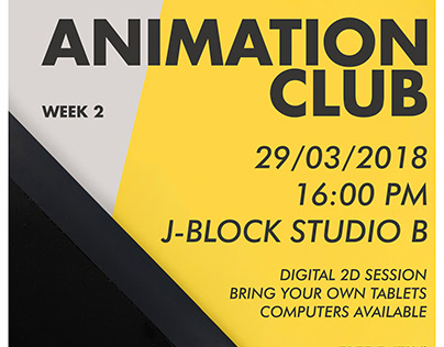 Animation Club - Posters