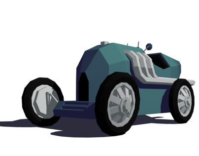 Low-Poly Vintage Race Car