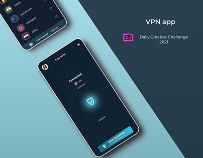 VPN app - XD Daily Creative Challenge