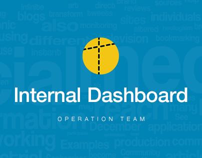 Dashboard for Internal Work