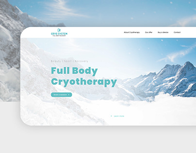 Webdesign for Cryotherapy salon | UI