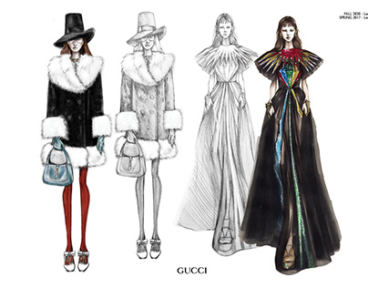 Illustrations for Gucci