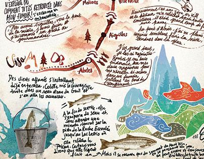 """Conte illustré """"La légende de la truite"""""""