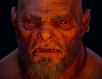 Orc Bust - Realtime Render