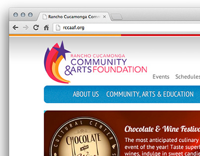 Rancho Cucamonga Community & Arts Foundation Website