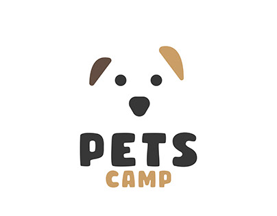 who is don't like puppies , PETS CAMP LOGO DESIGN