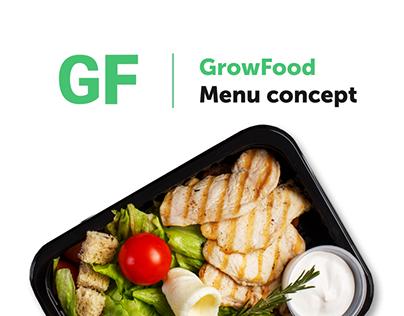 GrowFood menu concept