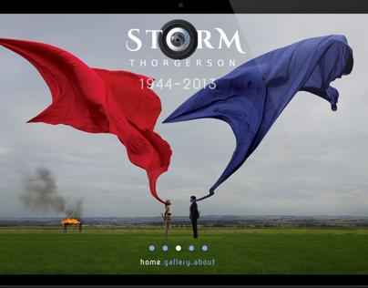 Storm Thorgerson exhibit site