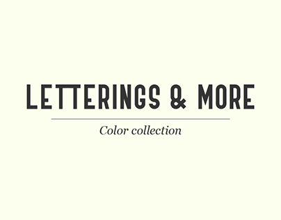 Letterings & more #2 - Color collection