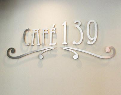 Café 139 - Branding and Location Graphics
