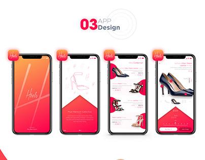Heels App Design | App UI UX | eCommerce App