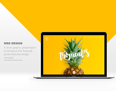 TROPICAL'S/ fresh hand made juices webdesign