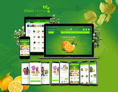Green Market e-commerce application UI UX Design
