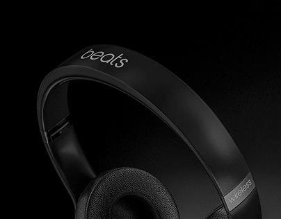 Beats Solo Pro Wireless Headphones CGI by Studio Powers