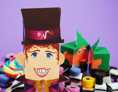 Willy Wonka & Oompa Loompas - paper craft toys