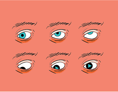 Vector Eye Roll Illustration and Motion