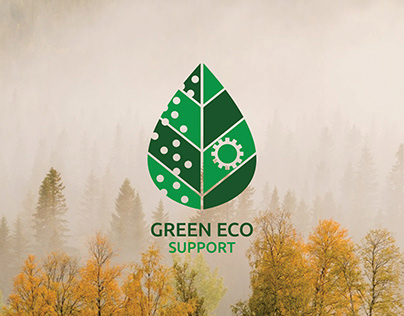 """Green Eco Support"" Logo Design"