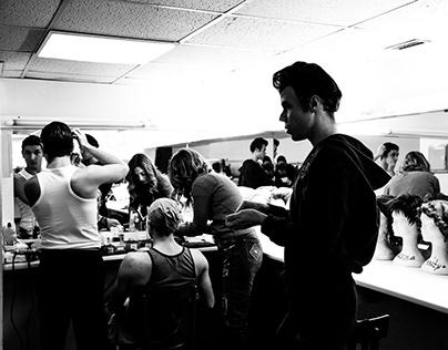 Backstage Grease compagnia della Rancia