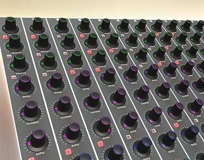Audio effect panel design