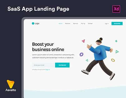 SaaS App Landing Page Design