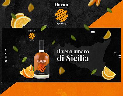 Website ui ux Orange Bitter