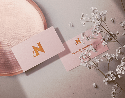 Nicole Beauty Salon Logo and Business Cards