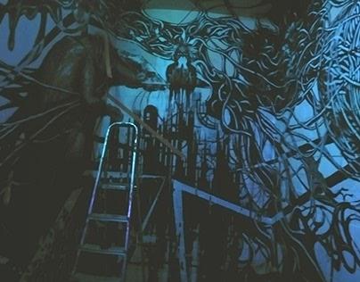 """""""Pelėda"""" night club project (street art instalation)"""