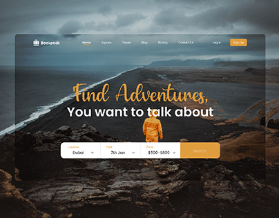 Travel Web Landing Page