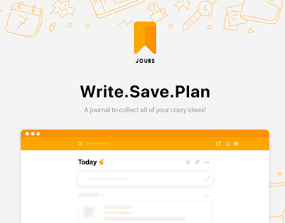JOURS: Re-Invent the journal app - UI/UX